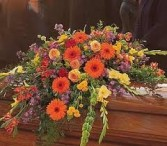 CS 8-Casket Spray of Mixed flowers Also available in other colors and sizes
