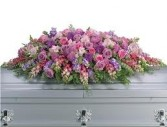 CS 10-Casket Spray of Mixed flowers Also available in other colors and sizes