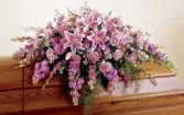 CS 14-Casket Spray of Mixed flowers Also available in other colors and sizes
