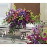 CS 3-Casket Spray of Mixed flowers Also available in other colors and sizes