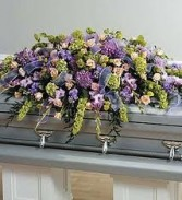 CS 1-Casket Spray of Mixed flowers Also available in other colors and sizes