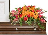 CS 13-Casket spray of mixed flowers Also available in other colors and sizes