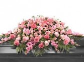 CS 12-Casket spray of mixed flowers Also available in other colors and sizes