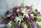 CS 9-Casket Spray of Mixed flowers Also available in other colors and sizes