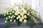 CS 11-Casket Spray of Mixed flowers Also available in other colors and sizes