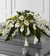 CS 4-Casket spray of Mixed flowers Also available with other flowers and in other sizes