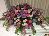 Casket Spray Pastel Memories Arrangement