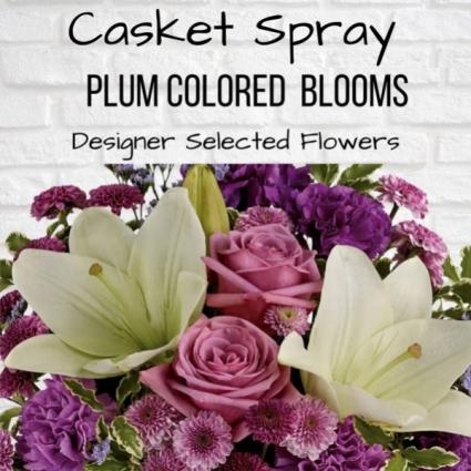 Casket Spray-Plum