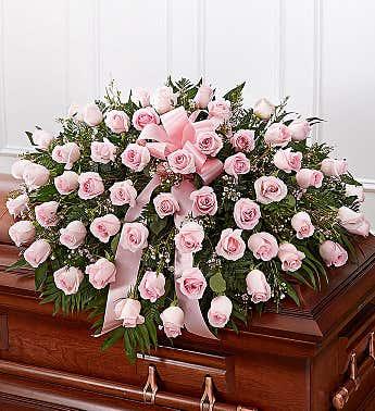 Casket Spray Roses Pink