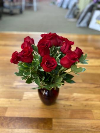 Casual Dozen Reds vase