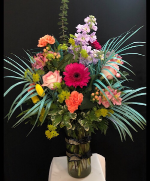 Catch A Wave Cylinder vase in Chesterfield, MO | ZENGEL FLOWERS AND GIFTS