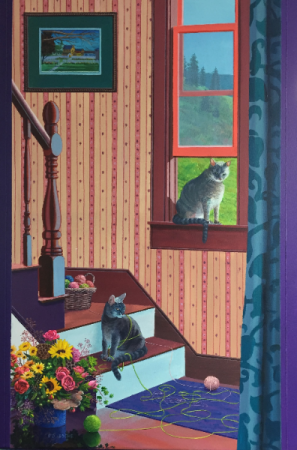 Cats at work Port Rexton Ed Roche Prints