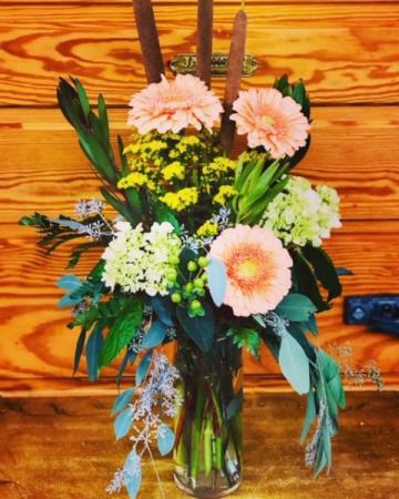 "Cattails for Fall"" Vase"