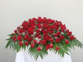 CC1 All red rose Casket cover