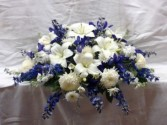 CC4 Blue and White Casket Cover