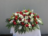 CC15 Red & white casket cover