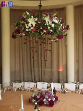 CEILING LIGHT AND TABLE CENTERPIECE  WEDDING