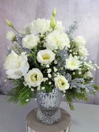 Celebrate a White Christmas fresh flowers