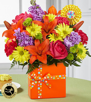 Celebrate Birthday  Bouquet in Canon City, CO | TOUCH OF LOVE FLORIST AND WEDDINGS