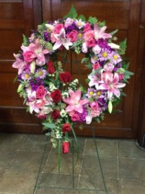 Celebrate Life Standing Wreath