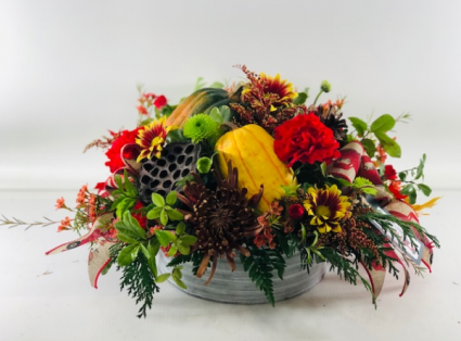 Celebrate Tablescape  Container Arrangement