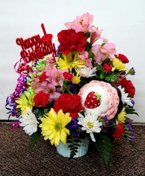 Celebrate The Day   FHF-B01 Fresh Flower Keepsake (Local Delivery Only)