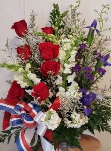 Celebrate the Red, White and Blue Fresh flowers