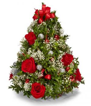 Celebrate the Season Christmas Arrangement in Jacksonville, AR | DOUBLE R FLORIST