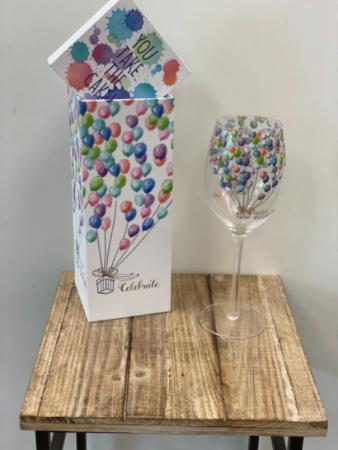 Celebrate Wine Glass and Gift Box