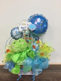 Celebrating baby boy Candy bouquet