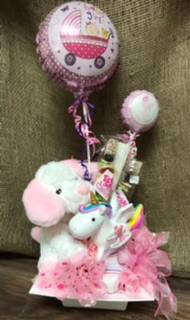 Celebrating baby girl Candy bouquet