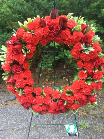 Celebrating of Life Wreath Standing Spray