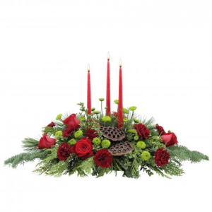 Celebration Christmas     centerpeice in Fort Smith, AR | Floral Boutique