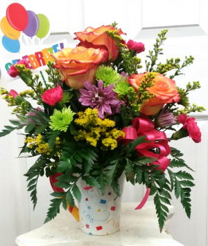 Celebration Circus Mug Arrangement  in Mount Pleasant, TX | DESIGNS BY LISA