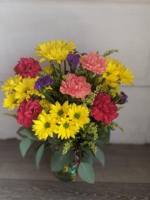 Celebration Fresh Arrangement in New Castle, IN   WEILAND'S FLOWERS