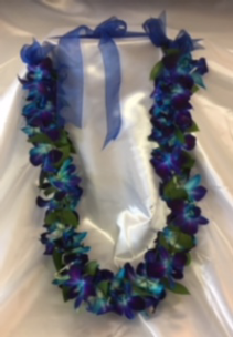 Celebration Lei Orchid Blue Beautiful and Bold