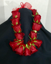Graduation Lei Red Rose Collection