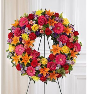 Celebration of Life Standing Wreath in Lauderhill, FL | BLOOMS WITH LOVE