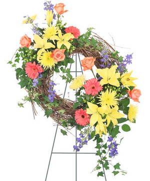 Celebration of Life Standing Spray in Ozone Park, NY | Heavenly Florist