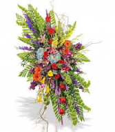 CELEBRATION OF LIFE STANDING SPRAY STANDING FUNERAL PC ON A 6' STAND