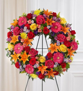CELEBRATION OF LIFE WREATH STANDING FUNERAL PC