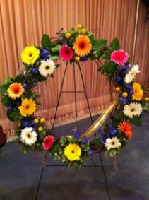 Celebration of Life Wreath with Gerbera Daisies