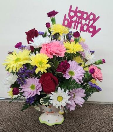 Celebration Overload FHF-B12 Fresh Floral Keepsake (local delivery only)