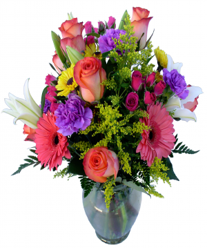 Celebration Vase Arrangement in Akron, PA | ROXANNE'S FLOWERS