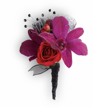 Celebrity Style Boutonniere Prom in Tulsa, OK | THE WILD ORCHID FLORIST