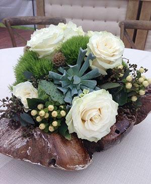 Celestial Creams Table Arrangement in Fairfield, CA   ADNARA FLOWERS & MORE