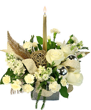 Celestial Glow Centerpiece  in Kingman, KS | CLEO'S FLOWER SHOP