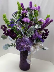 Celestial Purple Arrangement in Webster, TX |  La Mariposa Flowers