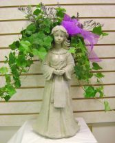 Cement Angel Planter Funeral Flowers