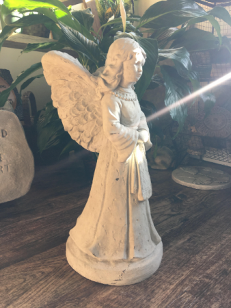 CEMENT ANGEL PLANTER SYMPATHY ARRANGEMENT/GIFT/HOME